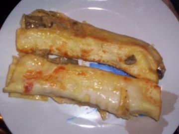 cannelloni ai carciofi e salsiccia e besciamella
