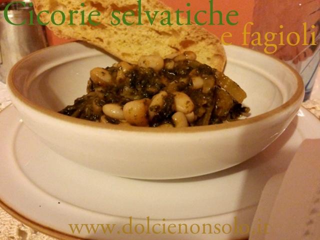 Zuppa di cicorie selvatiche e fagioli