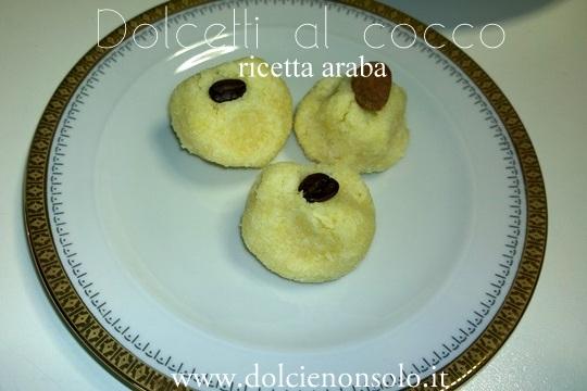 dolcetti arabi al cocco
