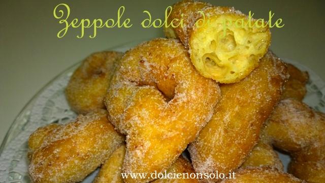 Zeppole dolci di patate...senza lattosio