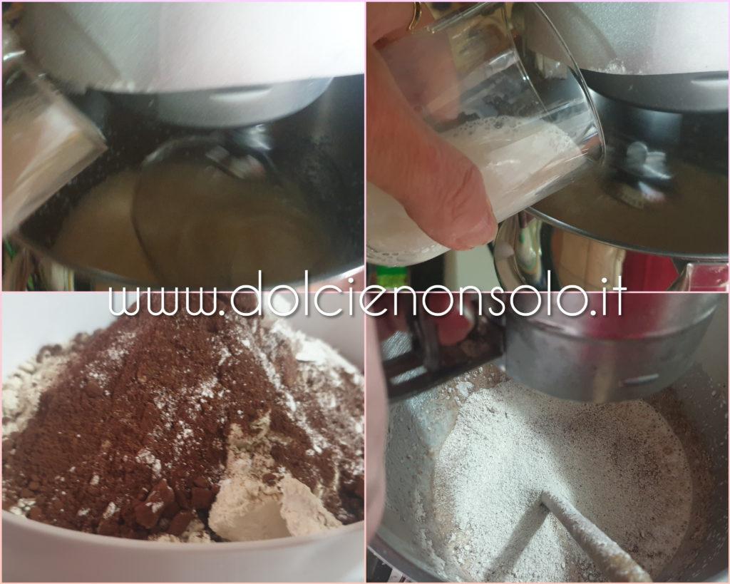 preparazione torta di castagne