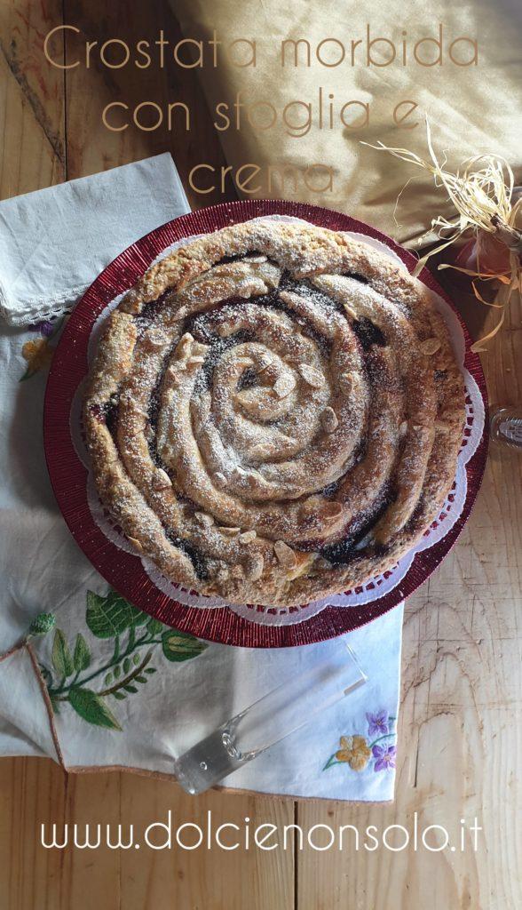 Crostata morbida con sfoglia e crema