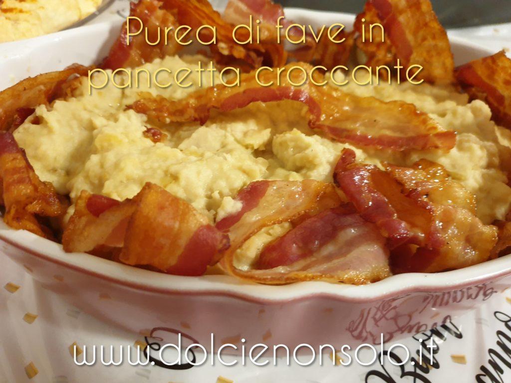 purea di fave con pancetta croccante