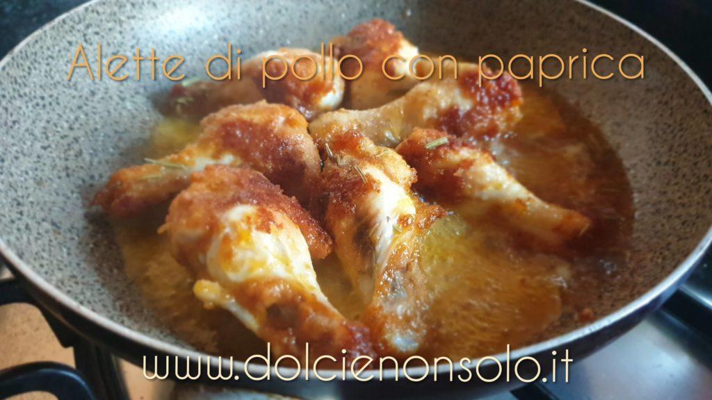 Alette di pollo con paprica in padella