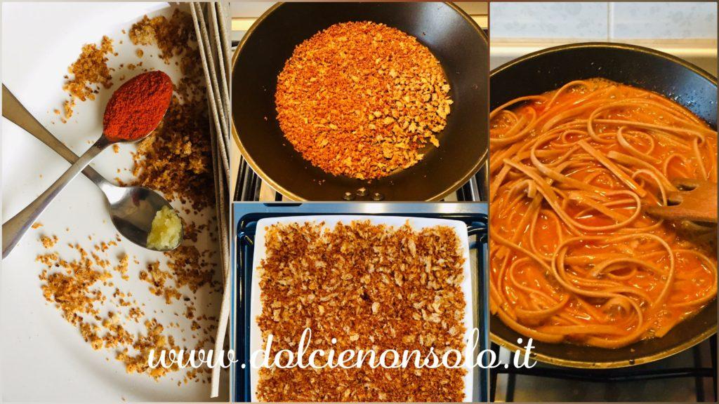 preparazione tagliatella aglio olio e peperoncino