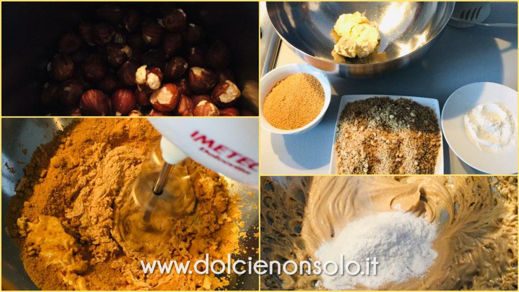 fasi preparazione torta ricotta e pere