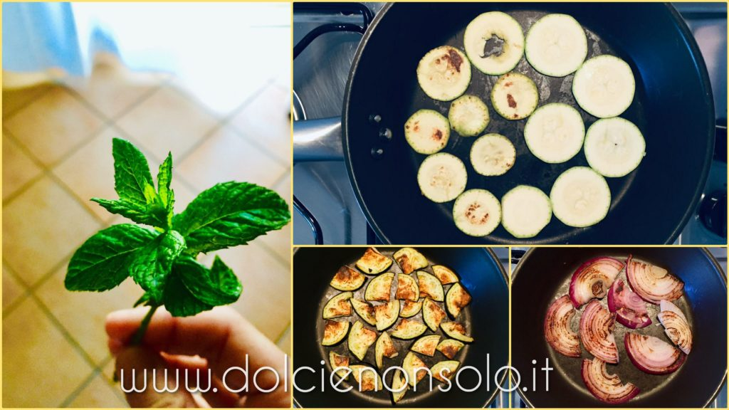 zucchine e cipolle grigliate