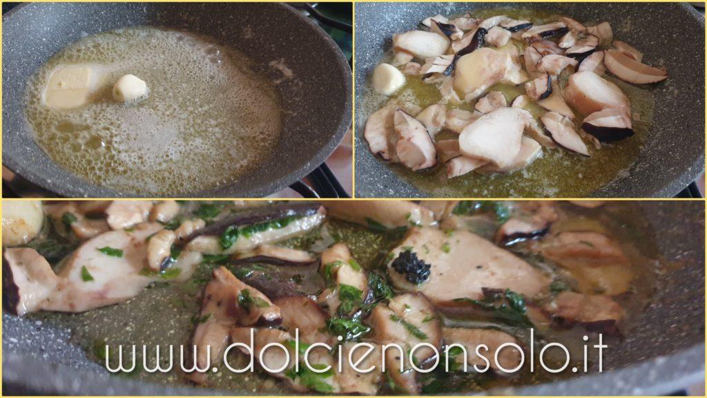 porcini e tartufo in cottura