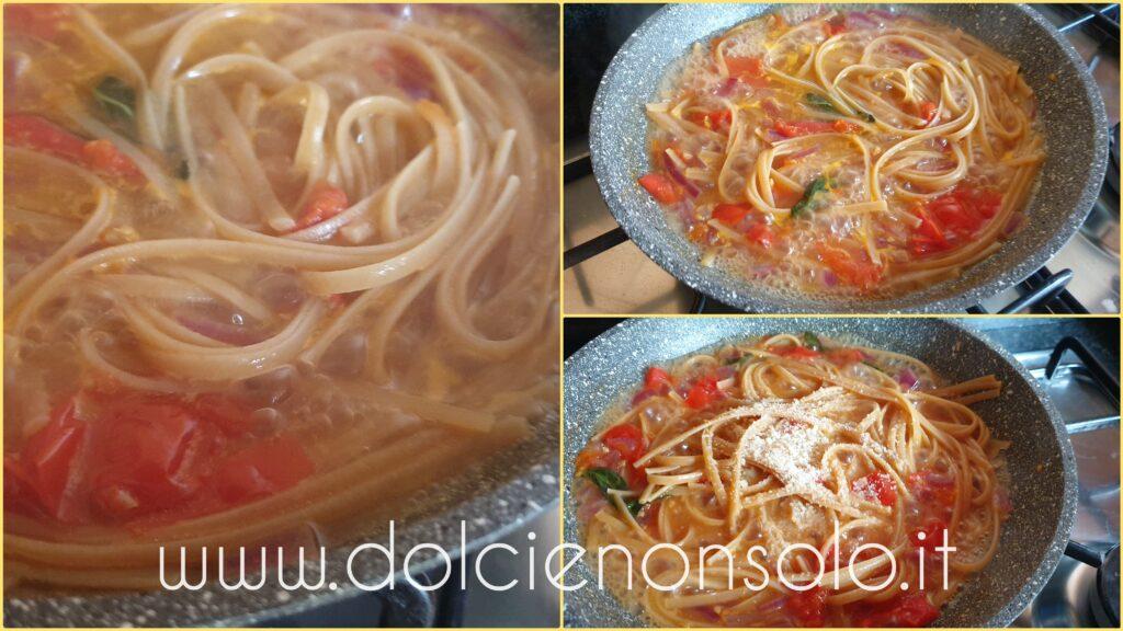 spaghetti con mantecatura del parmigiano