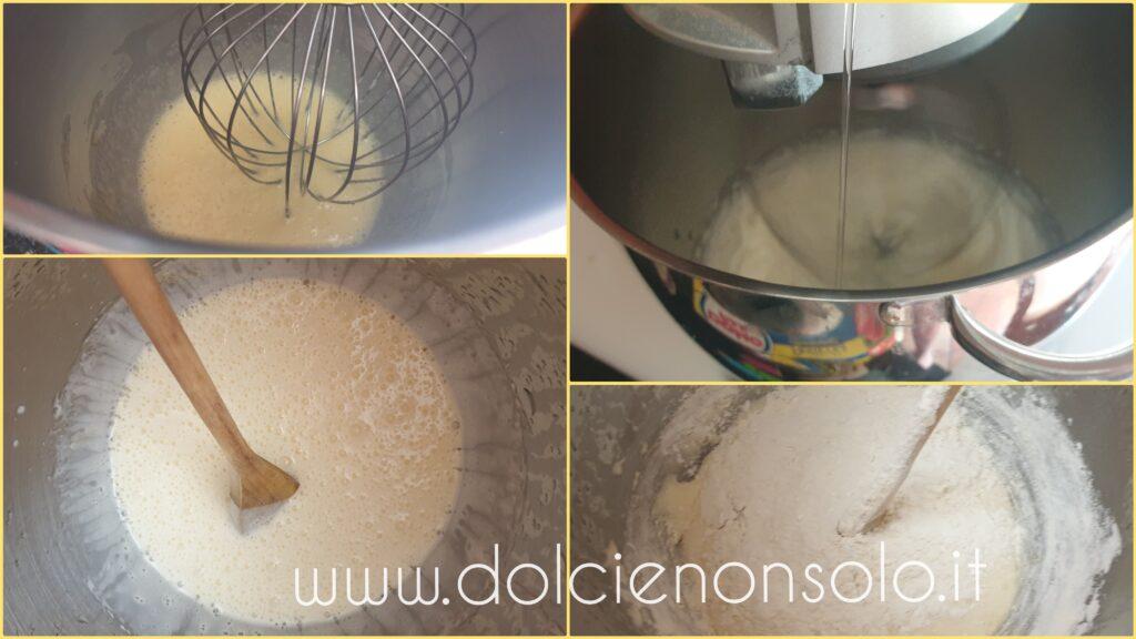 fasi preparazione torta alla banana