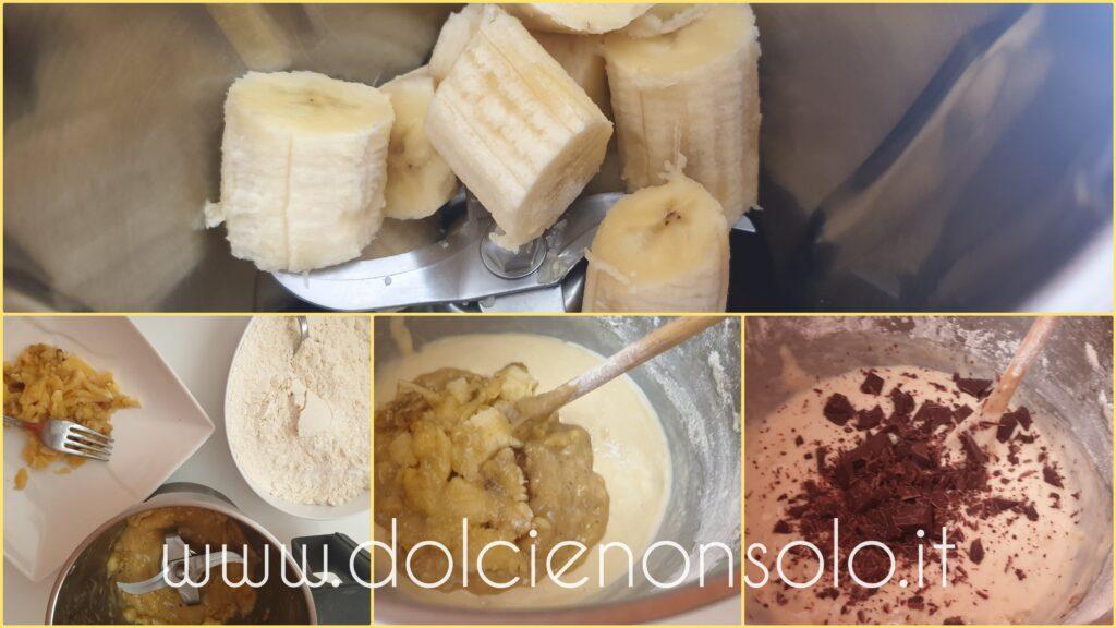 banana frullata per la torta