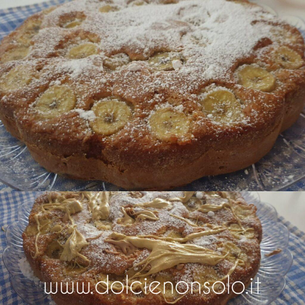 Torta morbida alle banane e cioccolato con crema alla nocciola