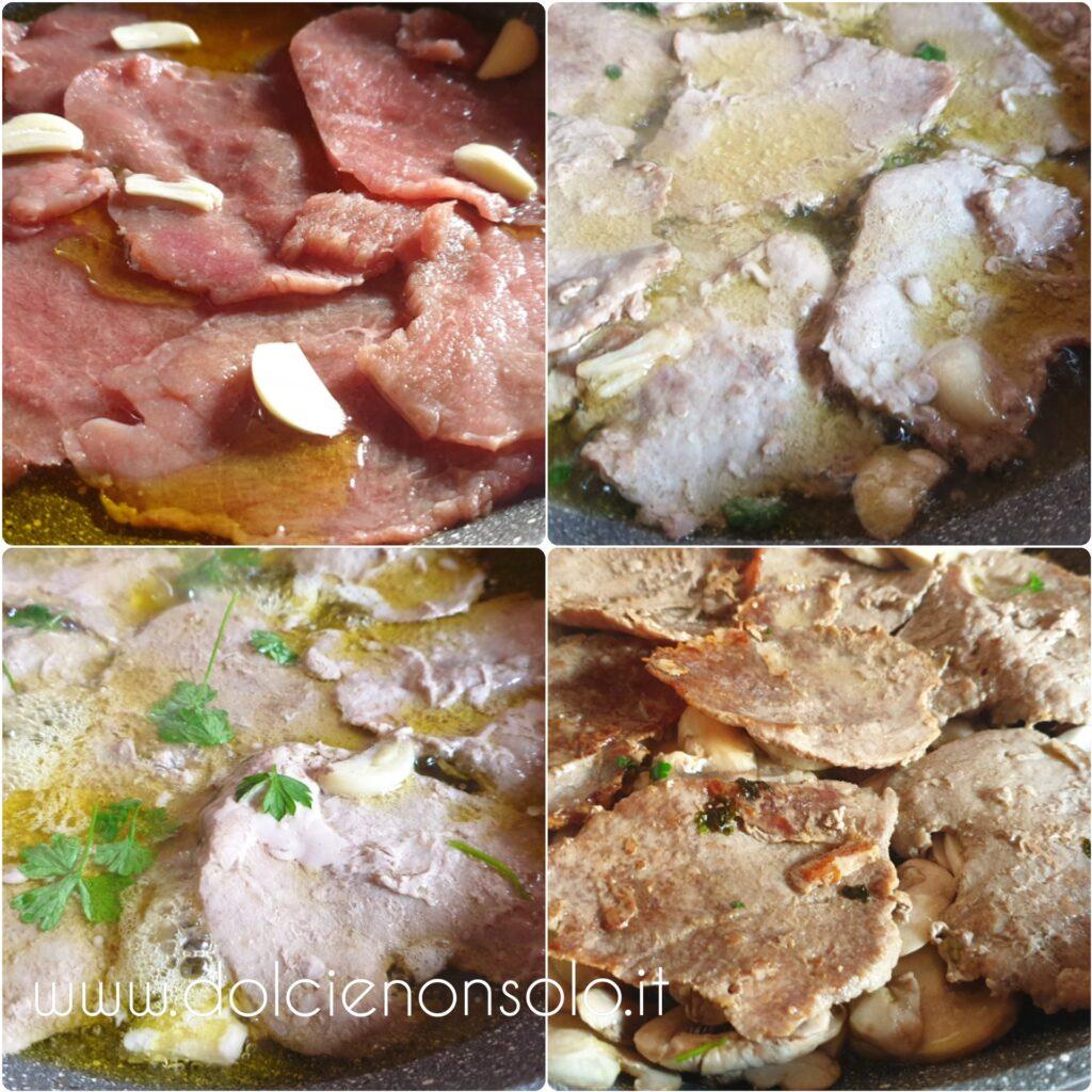 procediemento carne con champignon