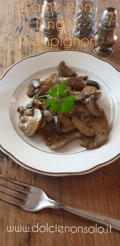 Carne ai funghi champignon