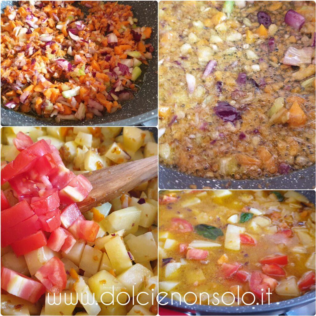preparazione pasta e patate