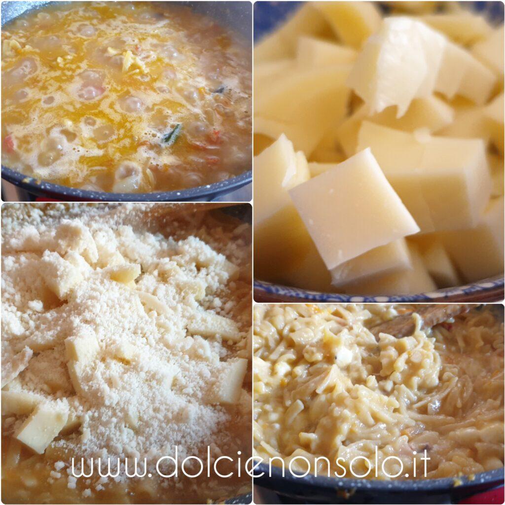 pasta e patate con aggiunta di provola