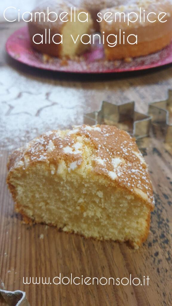 Ciambella semplice alla vaniglia