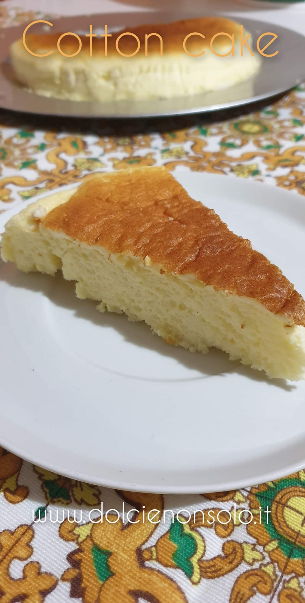 Cotton cake o cheesecake giapponese