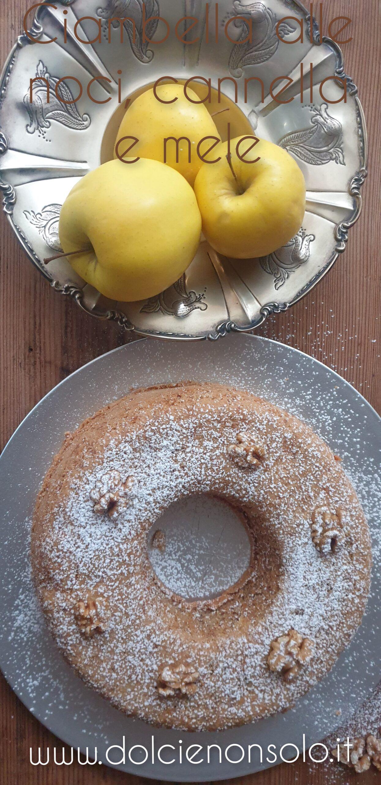 Ciambella con noci, cannella e mele