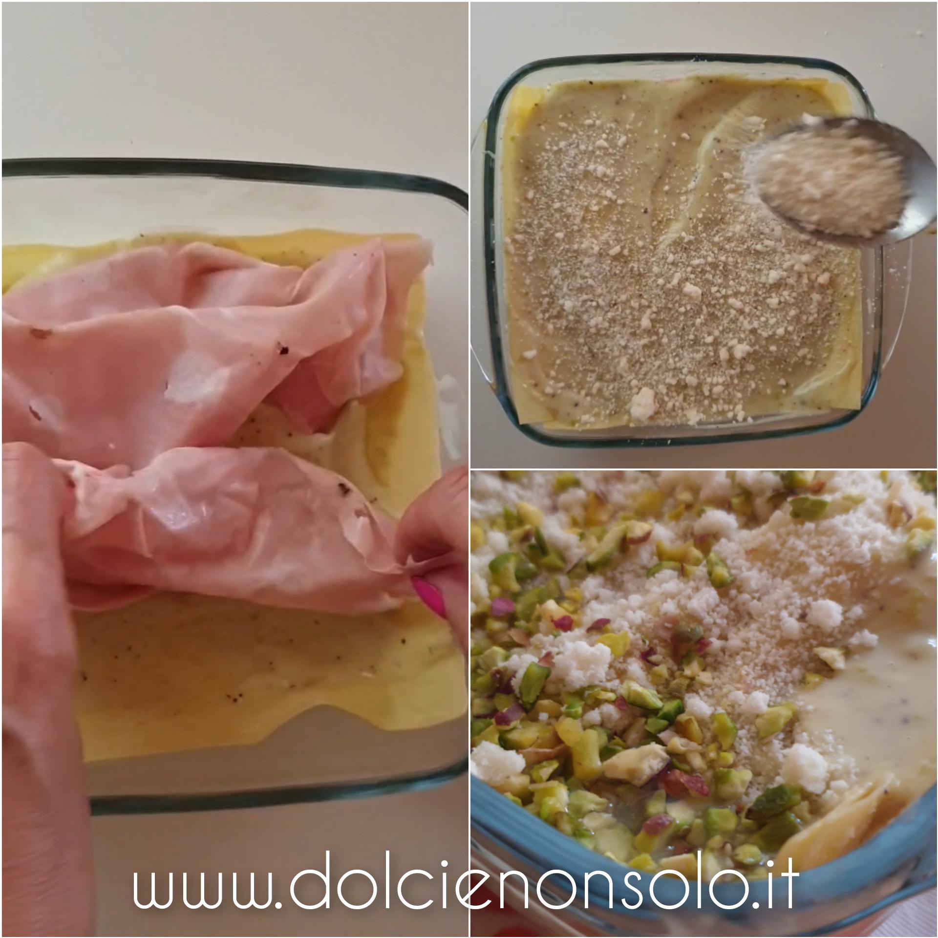 fasi preparazione lasagna con mortadella