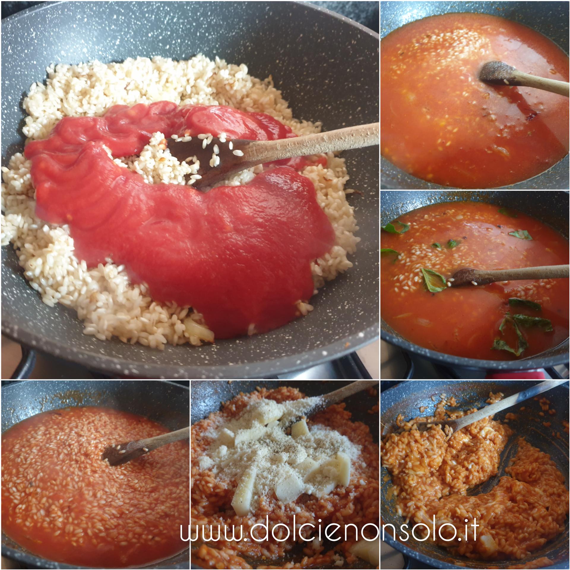 risotto con aggiunta di pomodoro