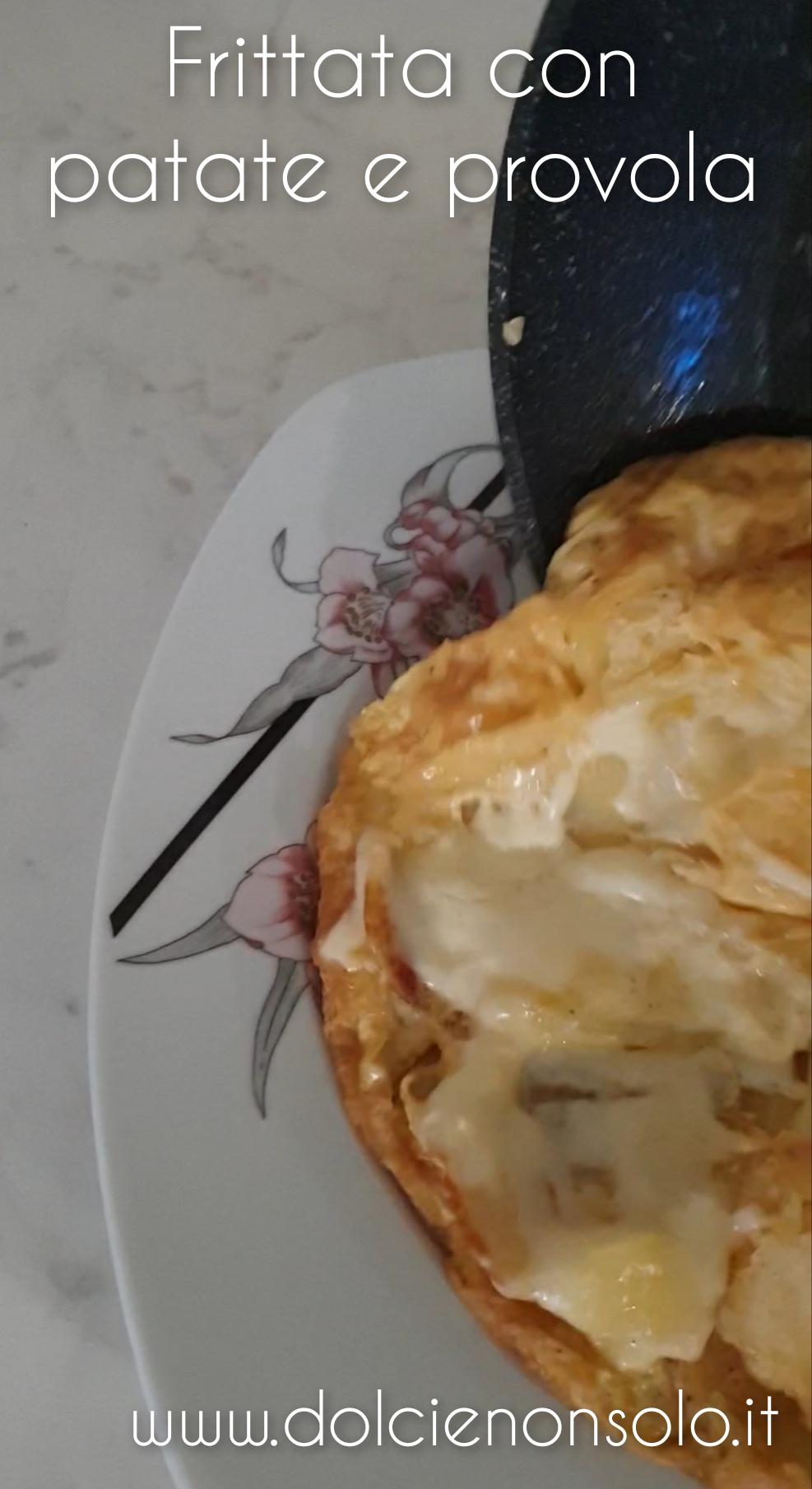 Frittata con patate e provola