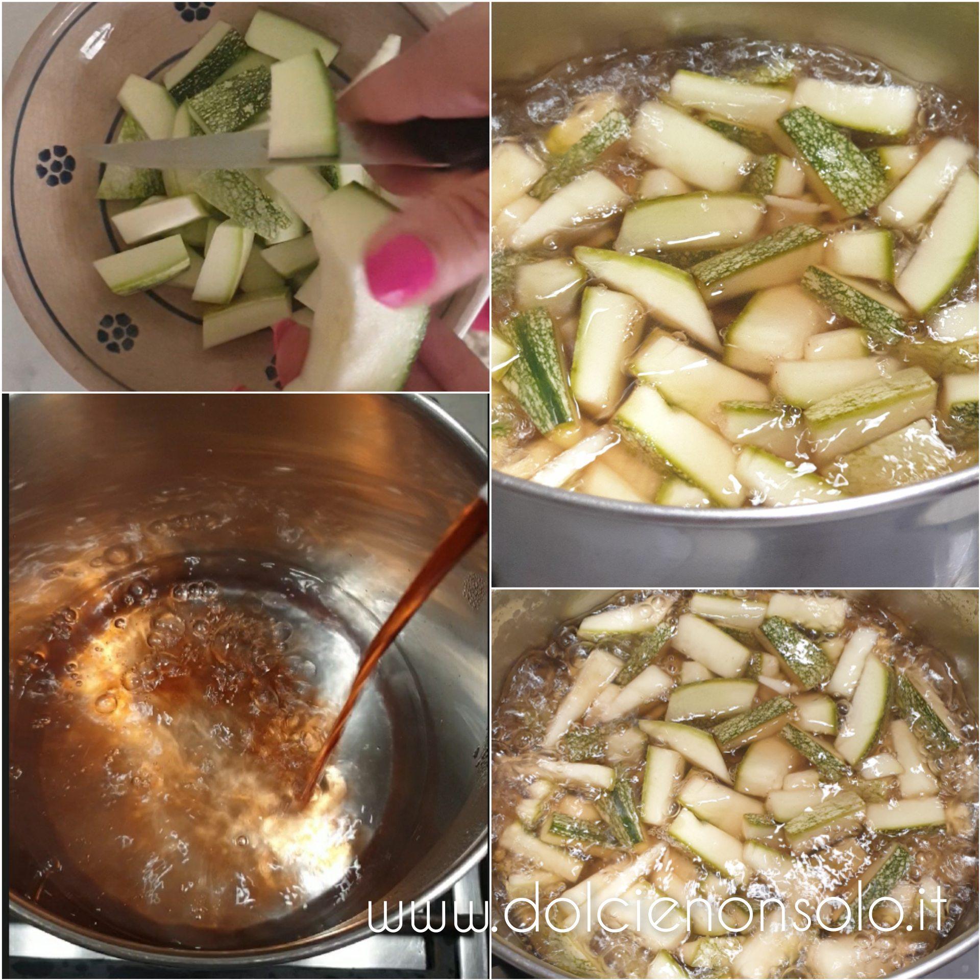 preparazione zucchine all'aceto