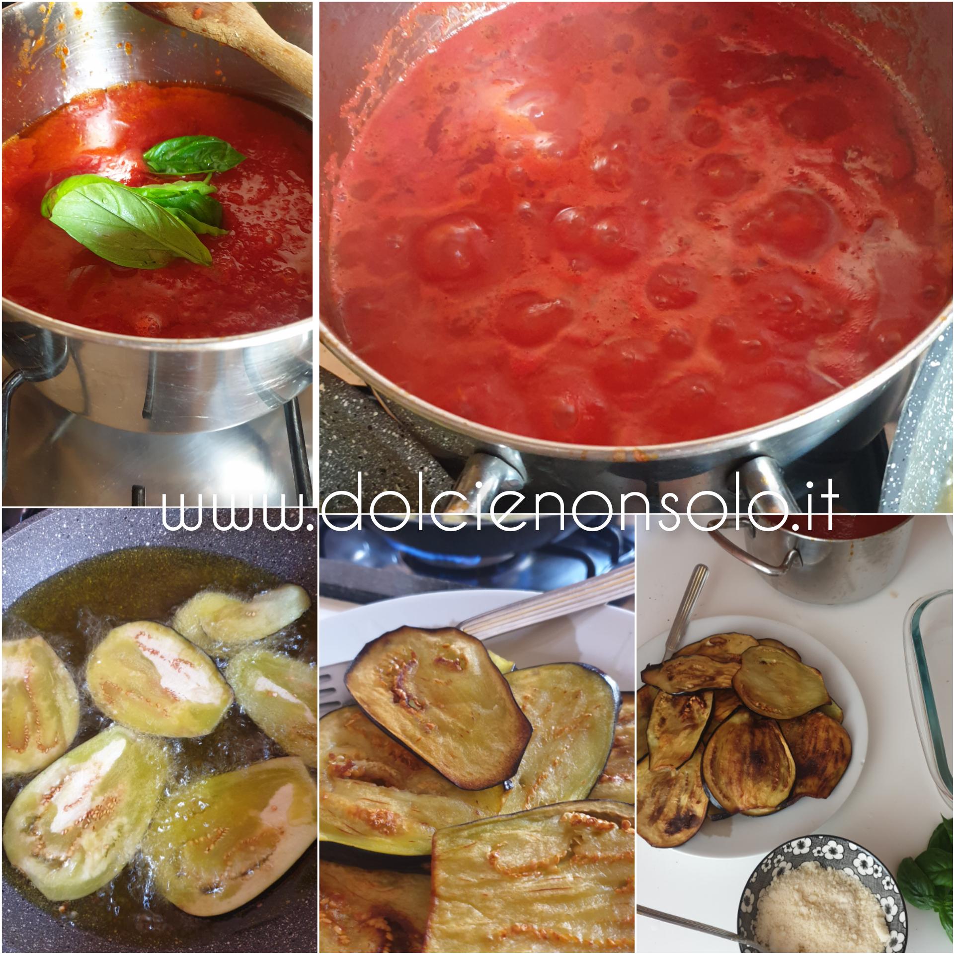 preparazione della parmigiana