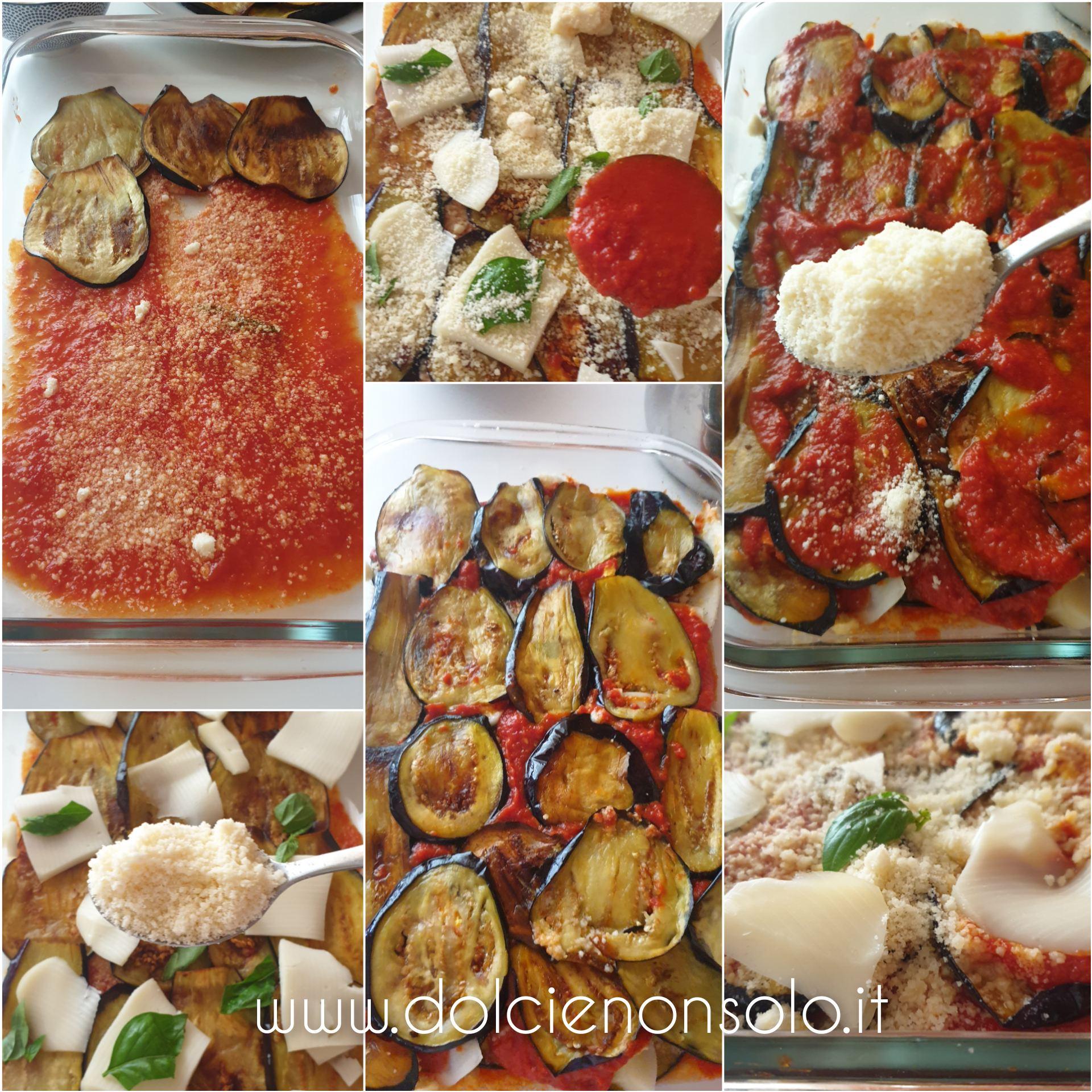 fasi di preparazione parmigiana di melanzane