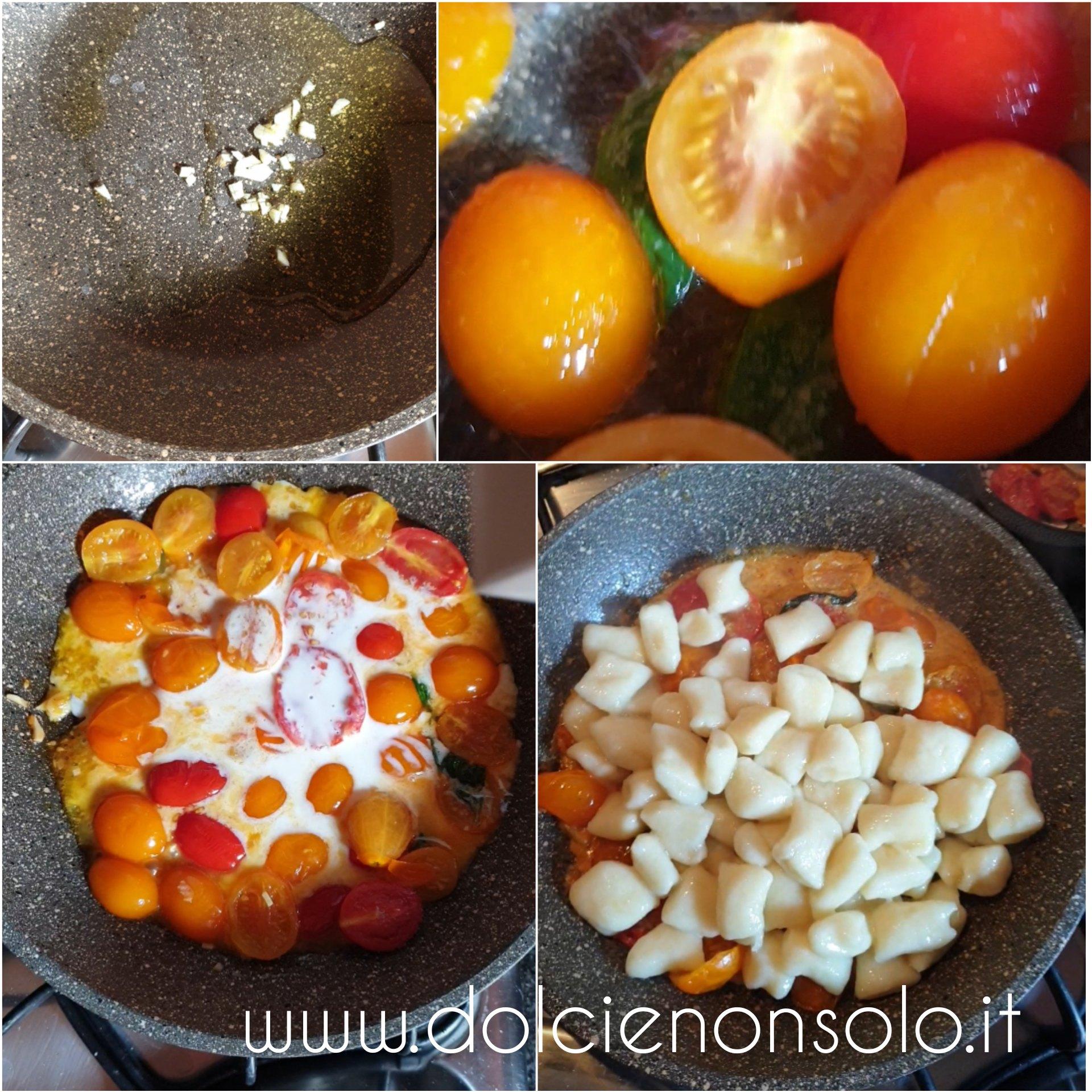 condimento di pomodorini gialli e rossi